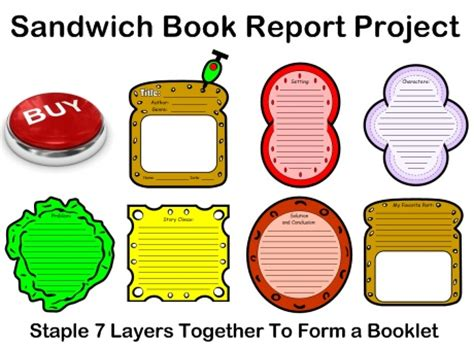How to make book report sandwich